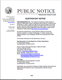 Election Day Notice